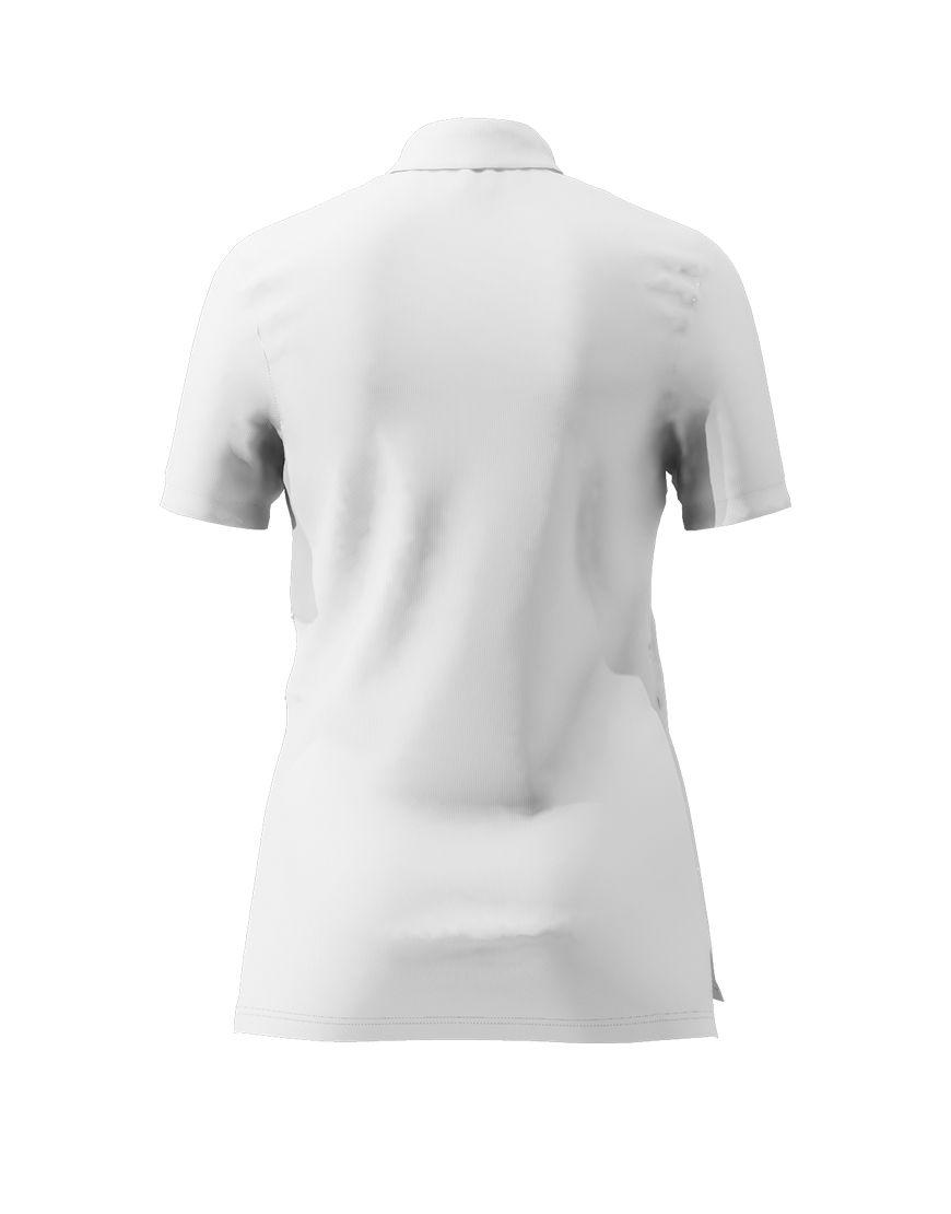 women polo with zipper 3d white back