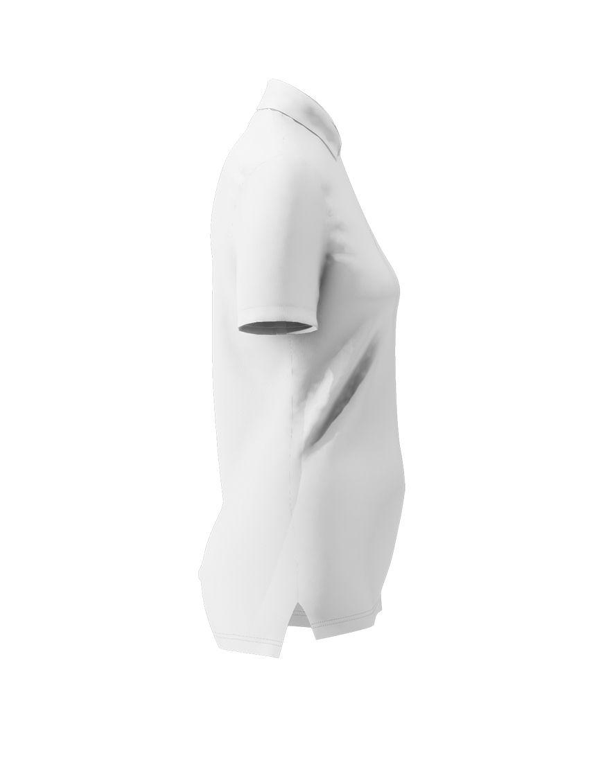 women polo with zipper 3d white left