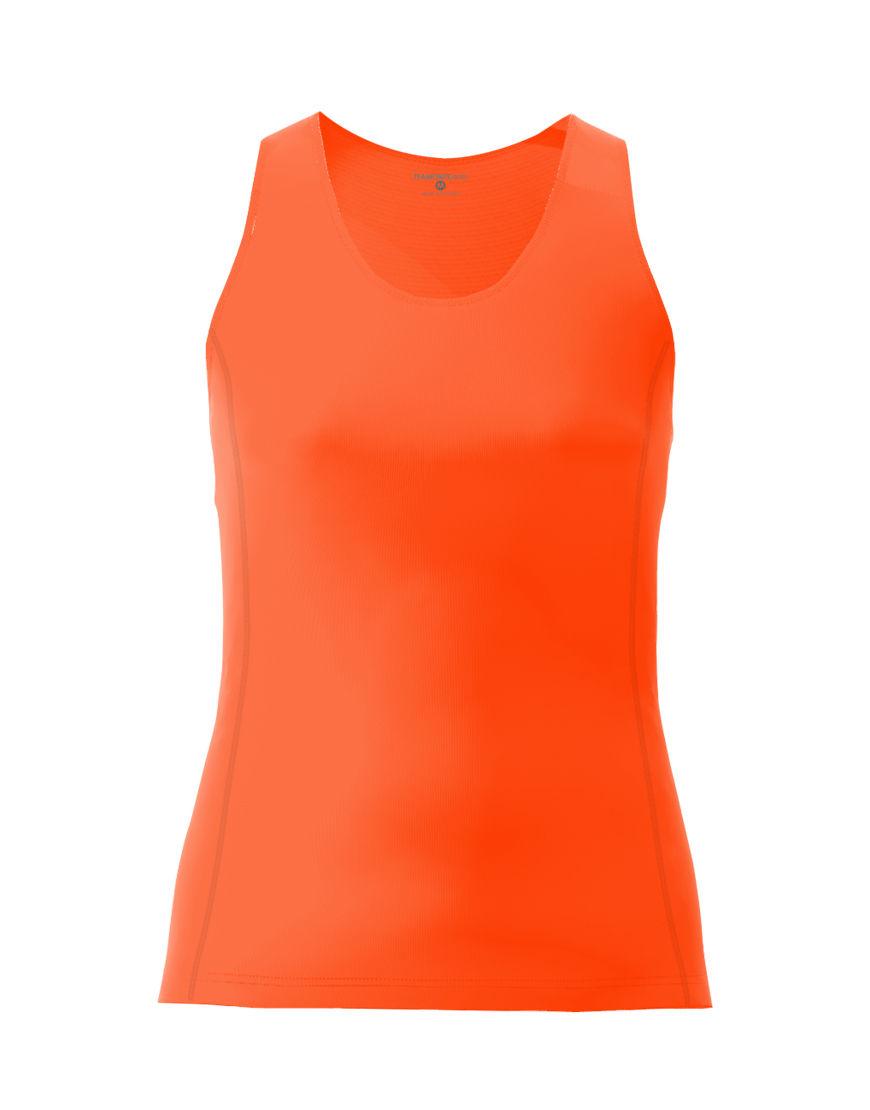 women racerback top 3d orange