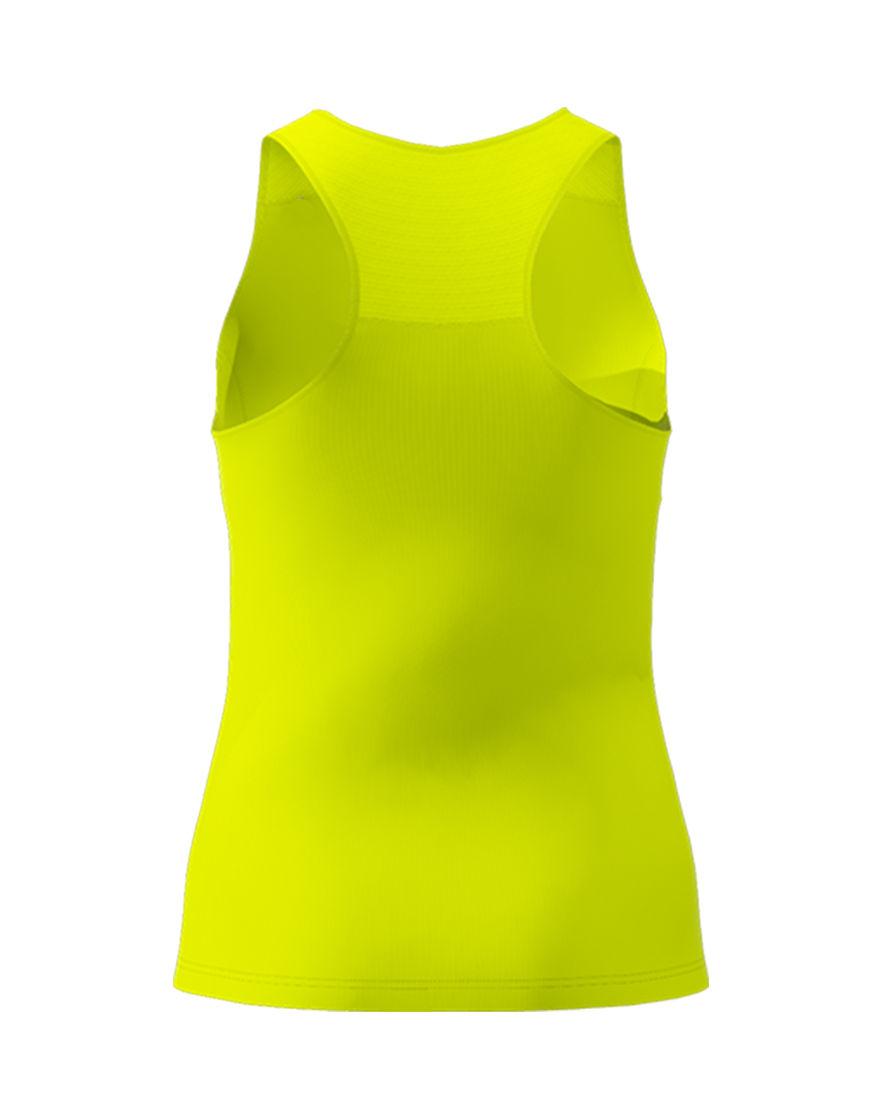 women racerback top 3d yellow fluo back