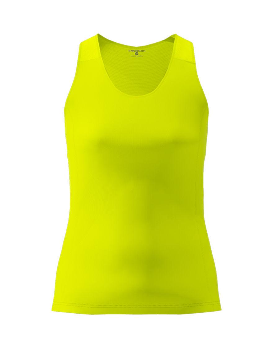 women racerback top 3d yellow fluo
