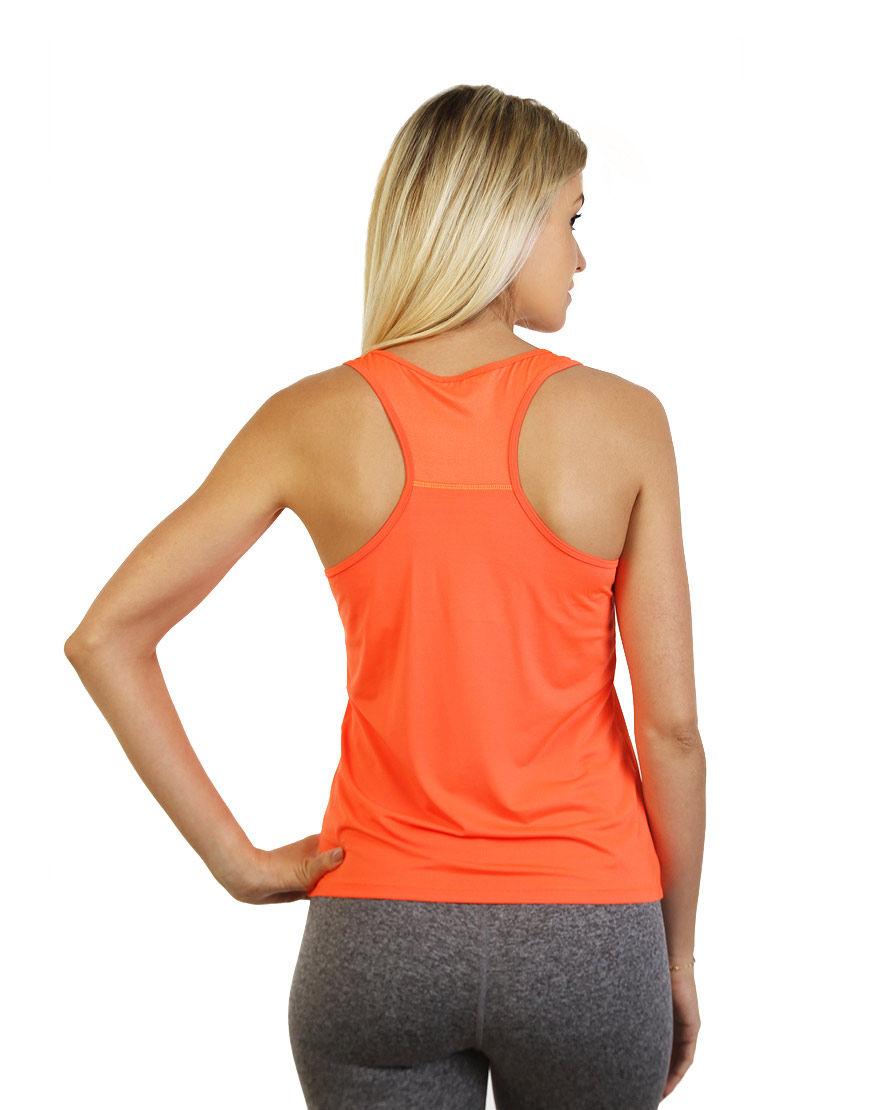 women racerback top orange back