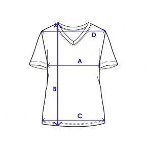 women v neck size guide