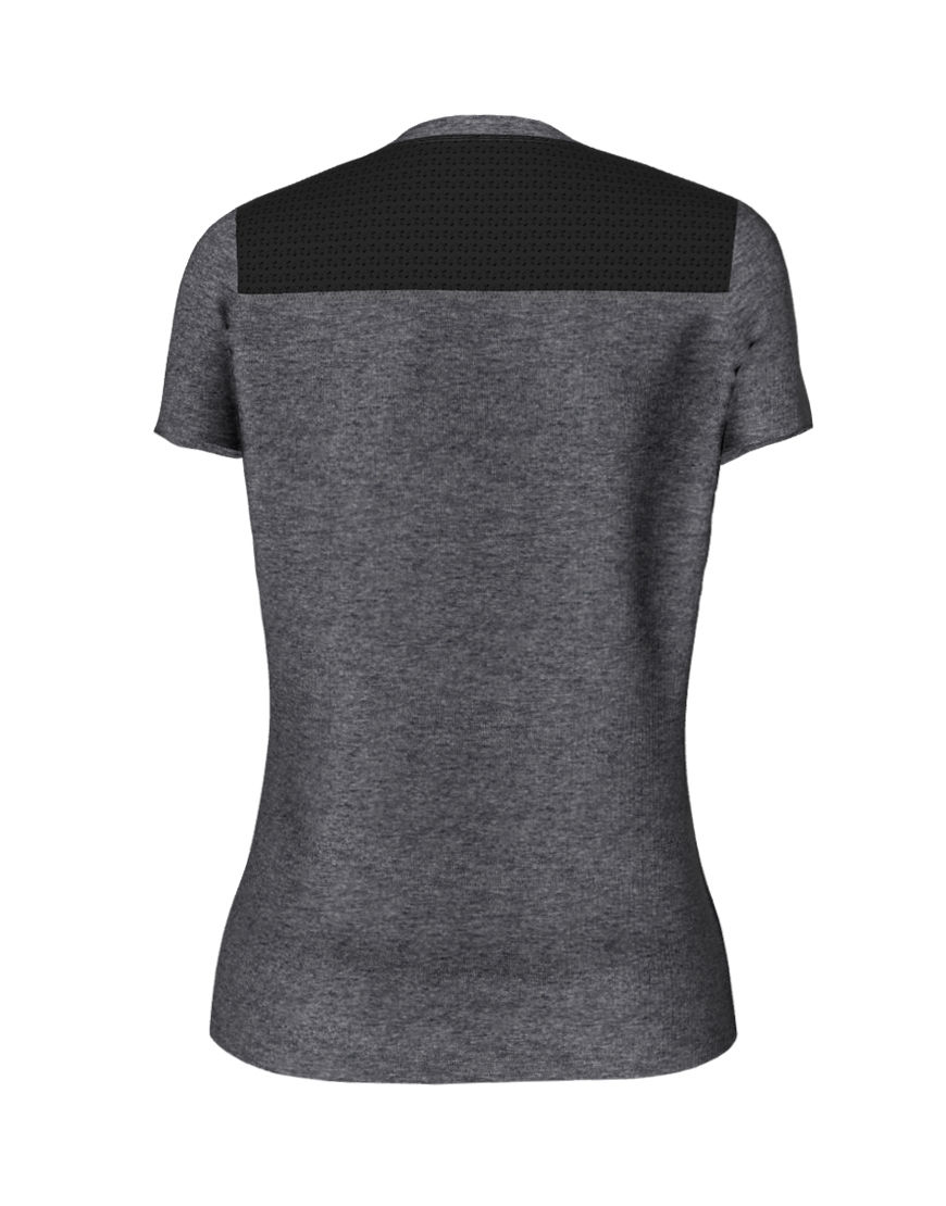 womens active fit 3d tee grey back