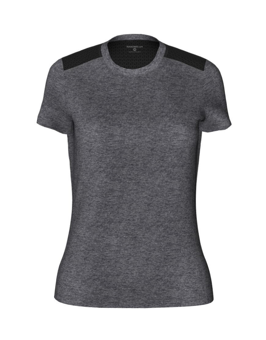 womens active fit 3d tee grey