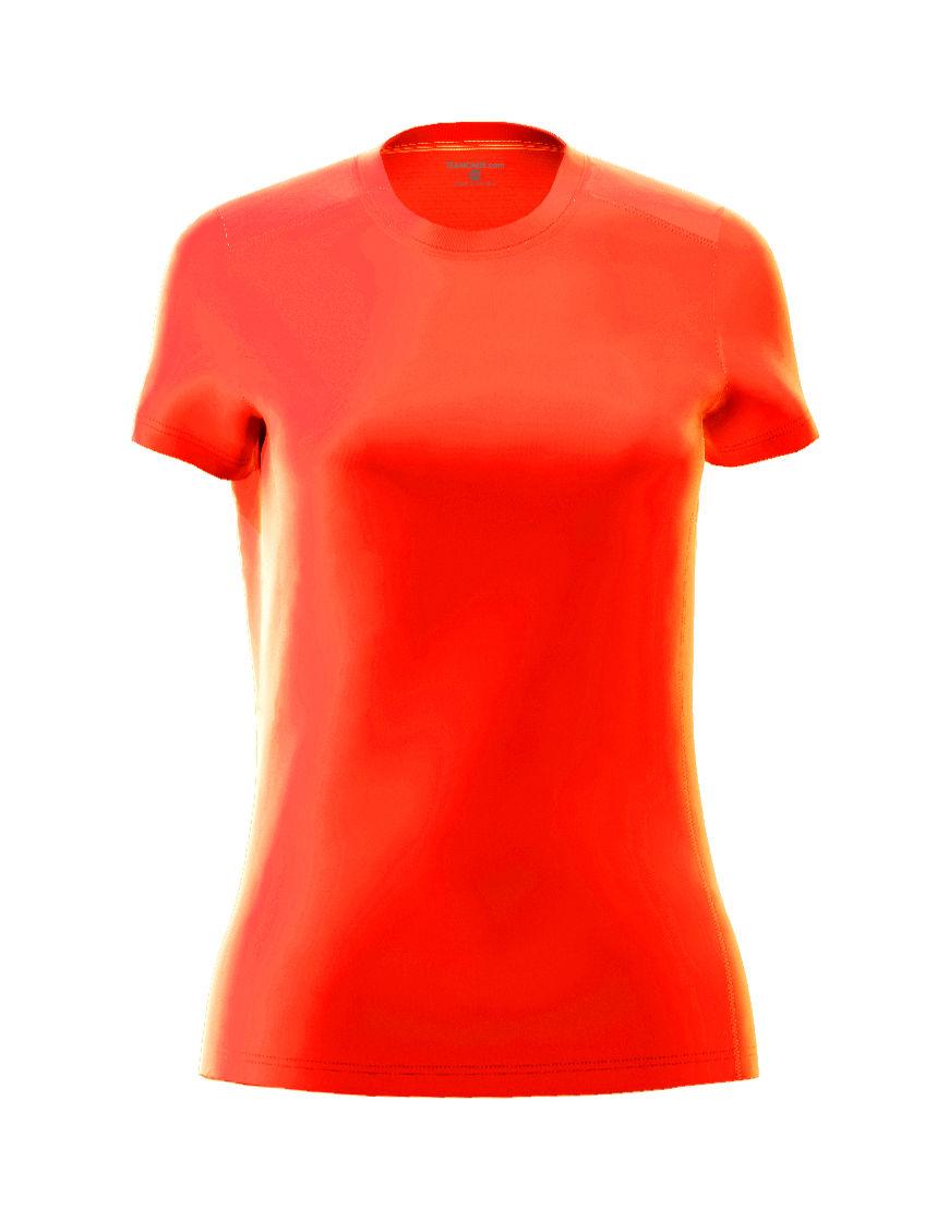 womens active fit 3d tee orange