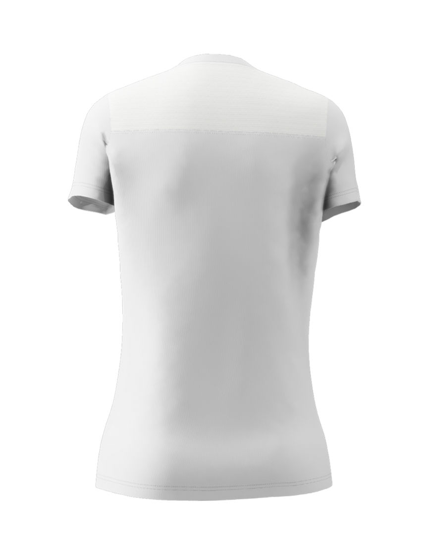 womens active fit 3d tee white back
