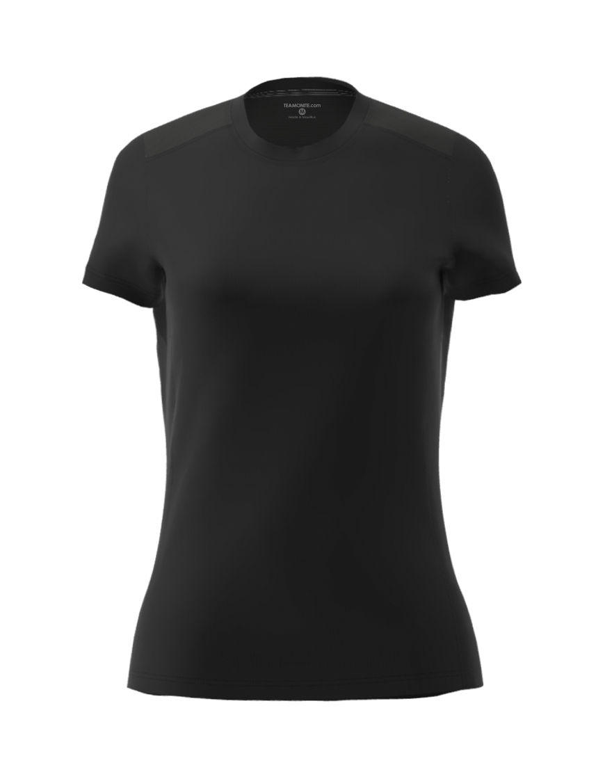 womens active fit 3d tee white black