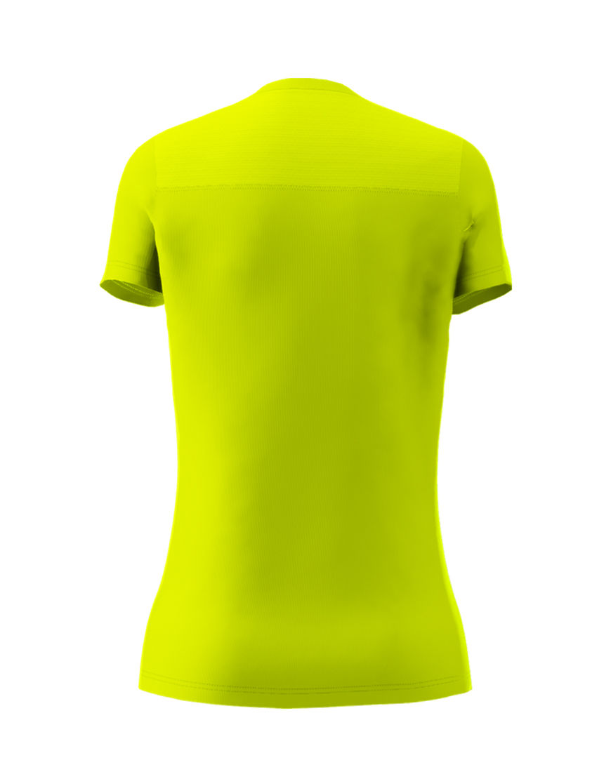 womens active fit 3d tee yellow fluo back