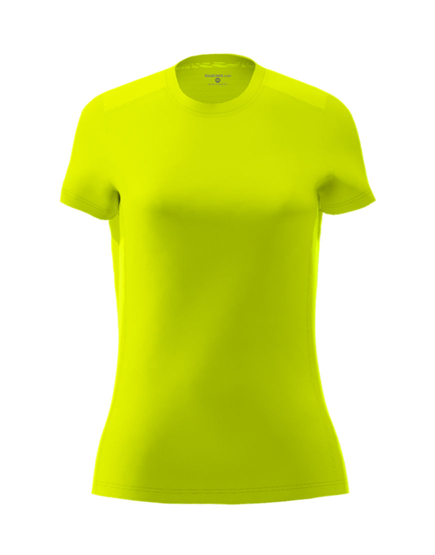 womens active fit 3d tee yellow fluo