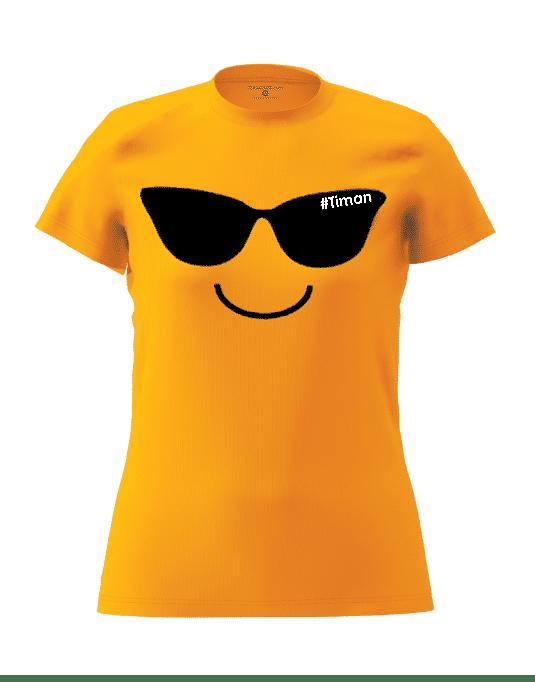 Women's Black Laksh Orange T-Shirt 3D