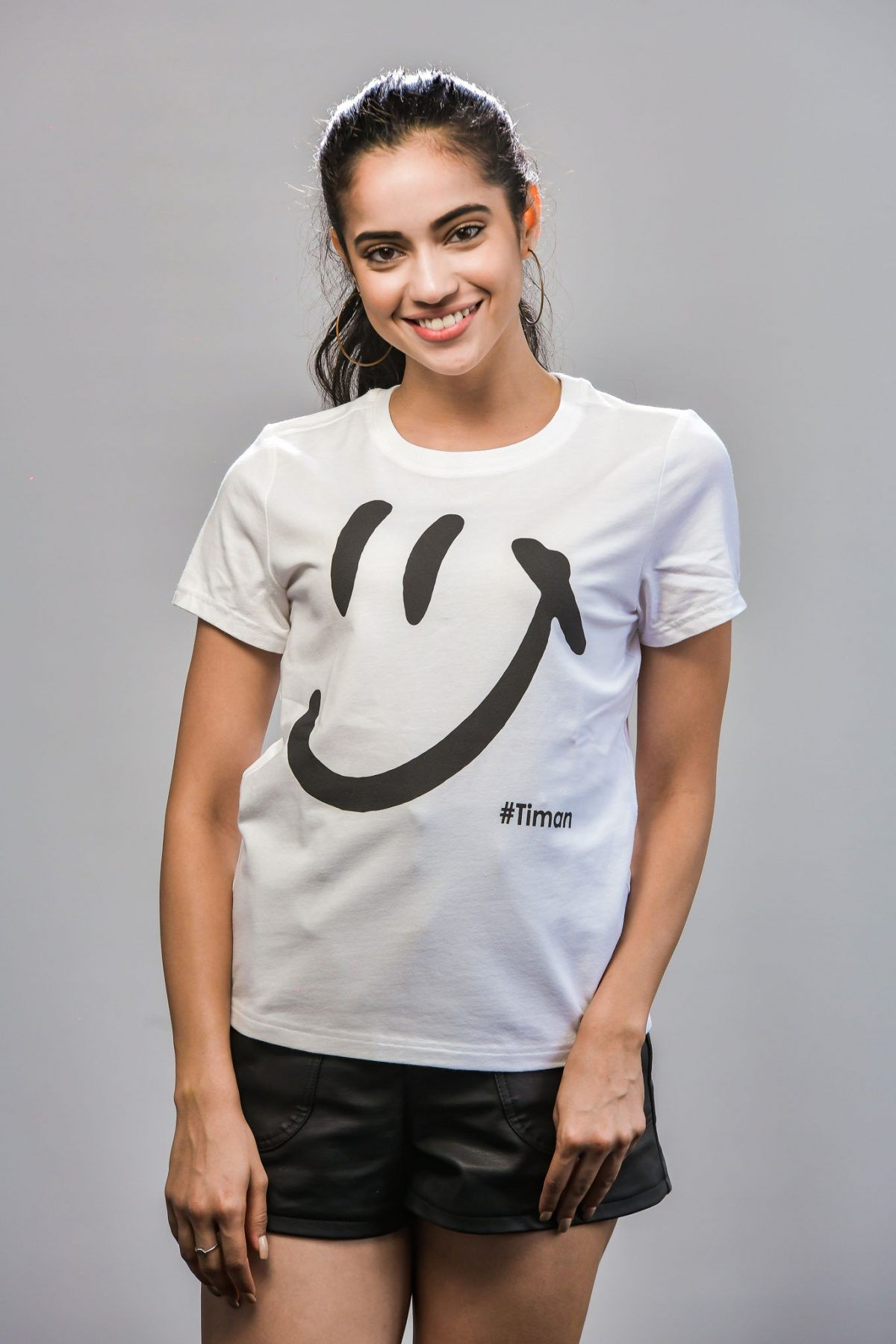 Women's Black Luna White T-Shirt Model 1