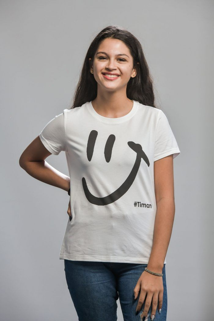 Women's Black Luna White T-Shirt Model 2