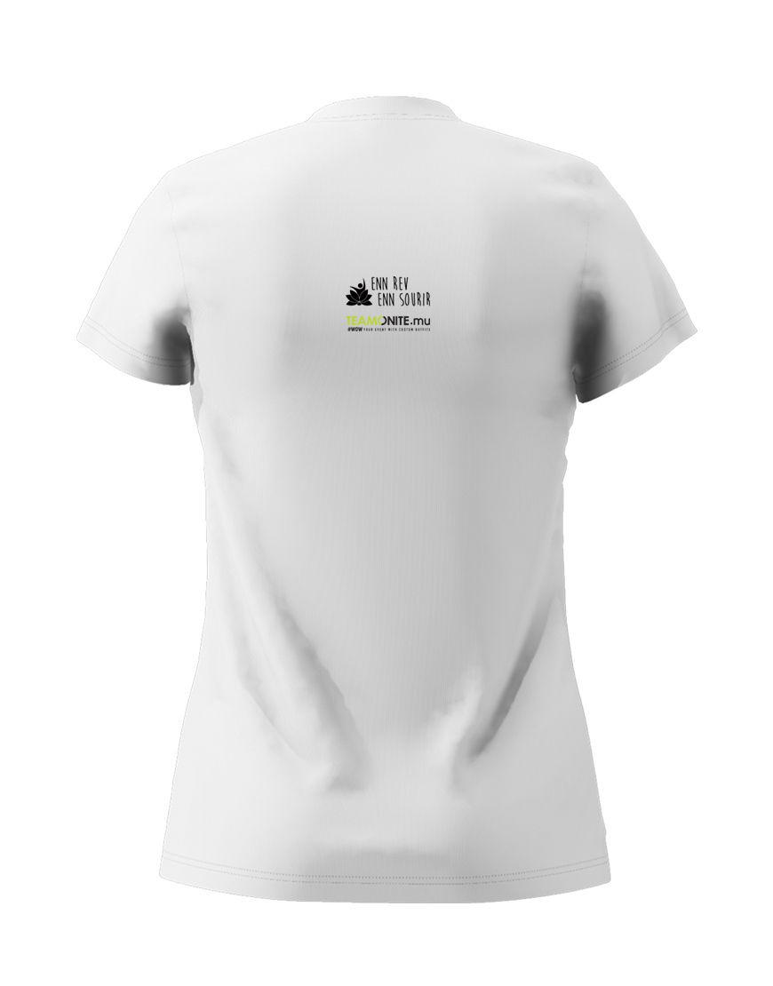 Womens black Timan white T-Shirt back
