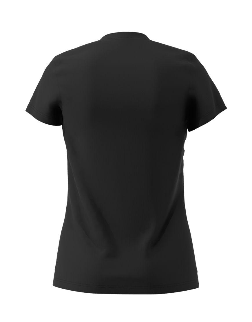 womens cotton stretch t shirt 3d black back