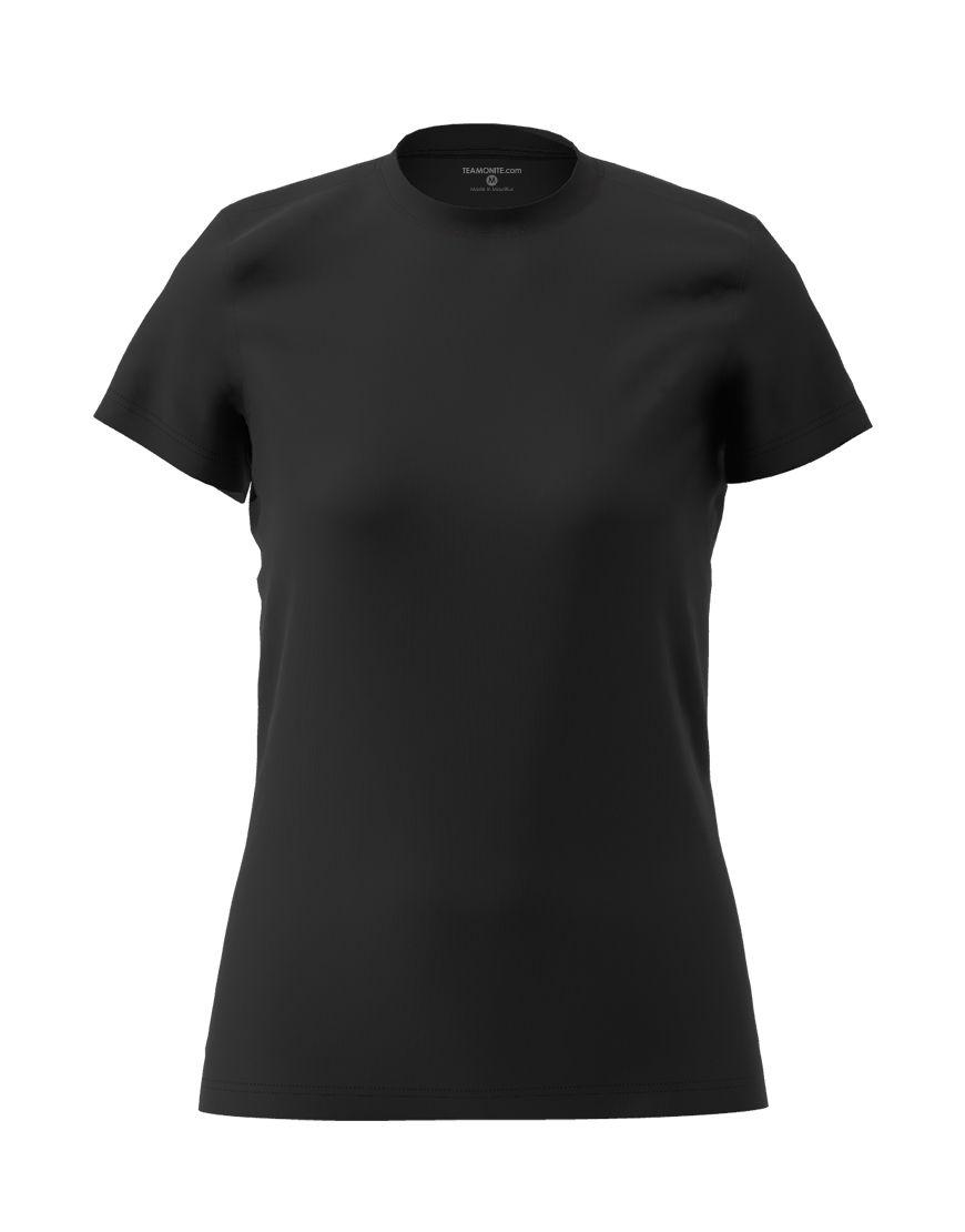womens cotton stretch t shirt 3d black