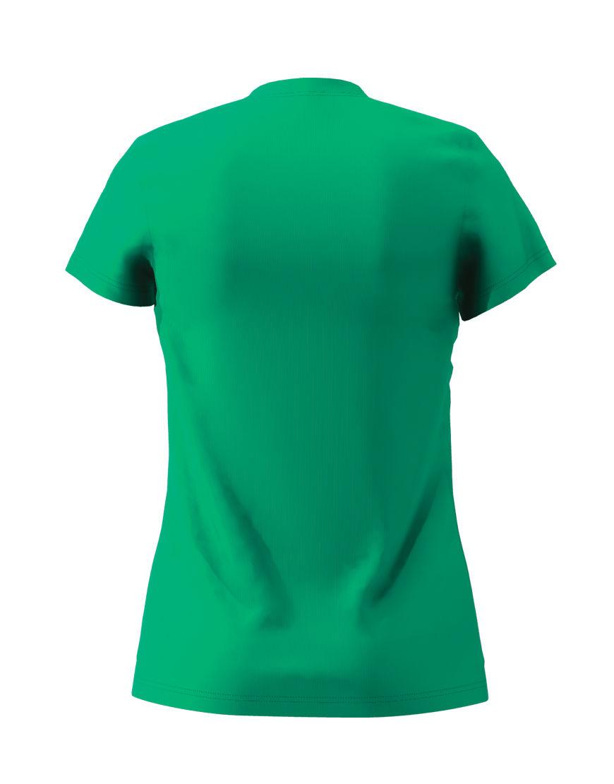 womens cotton stretch t shirt 3d emerald green back