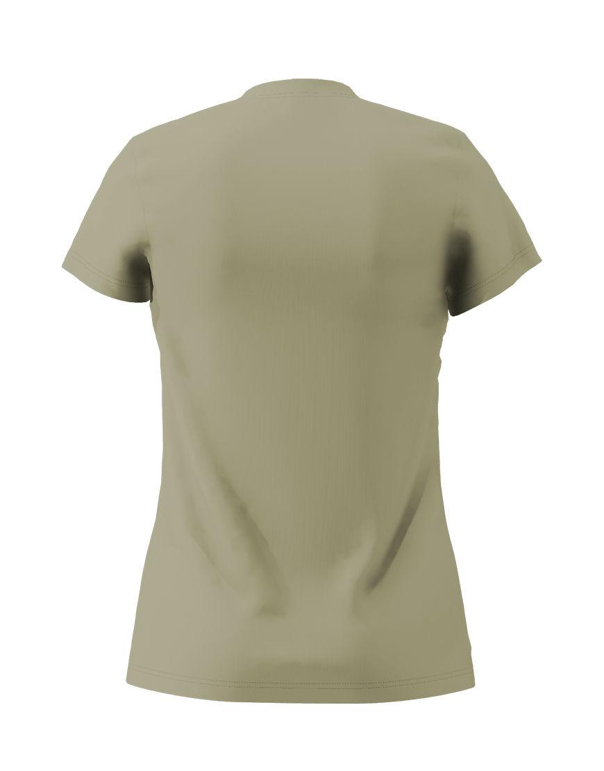 womens cotton stretch t shirt 3d light khaki back