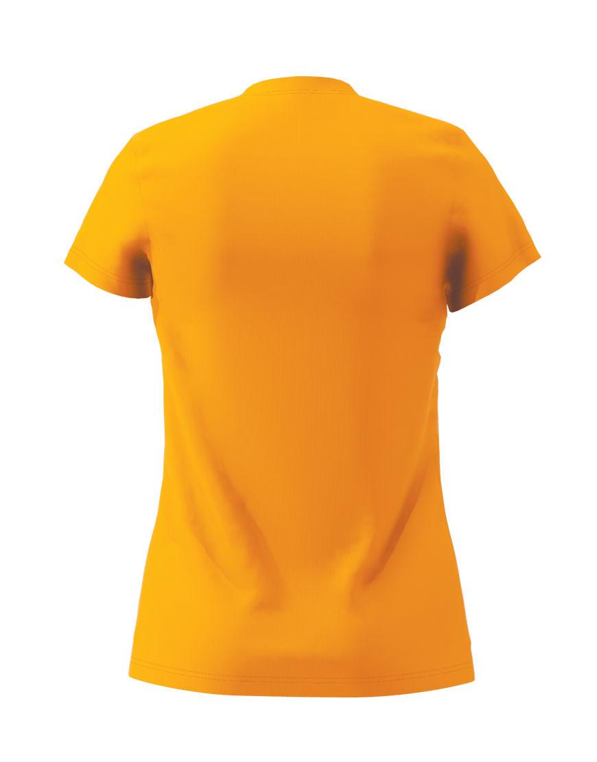 womens cotton stretch t shirt 3d orange back