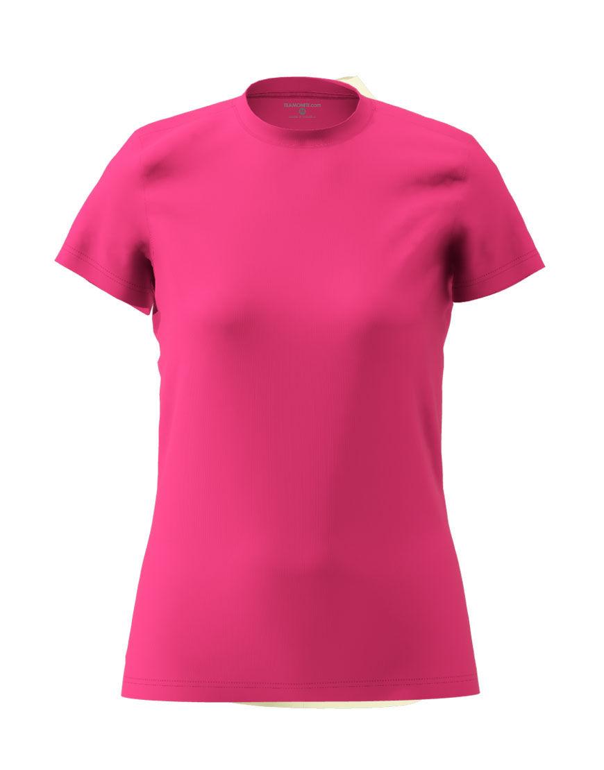 womens cotton stretch t shirt 3d pink