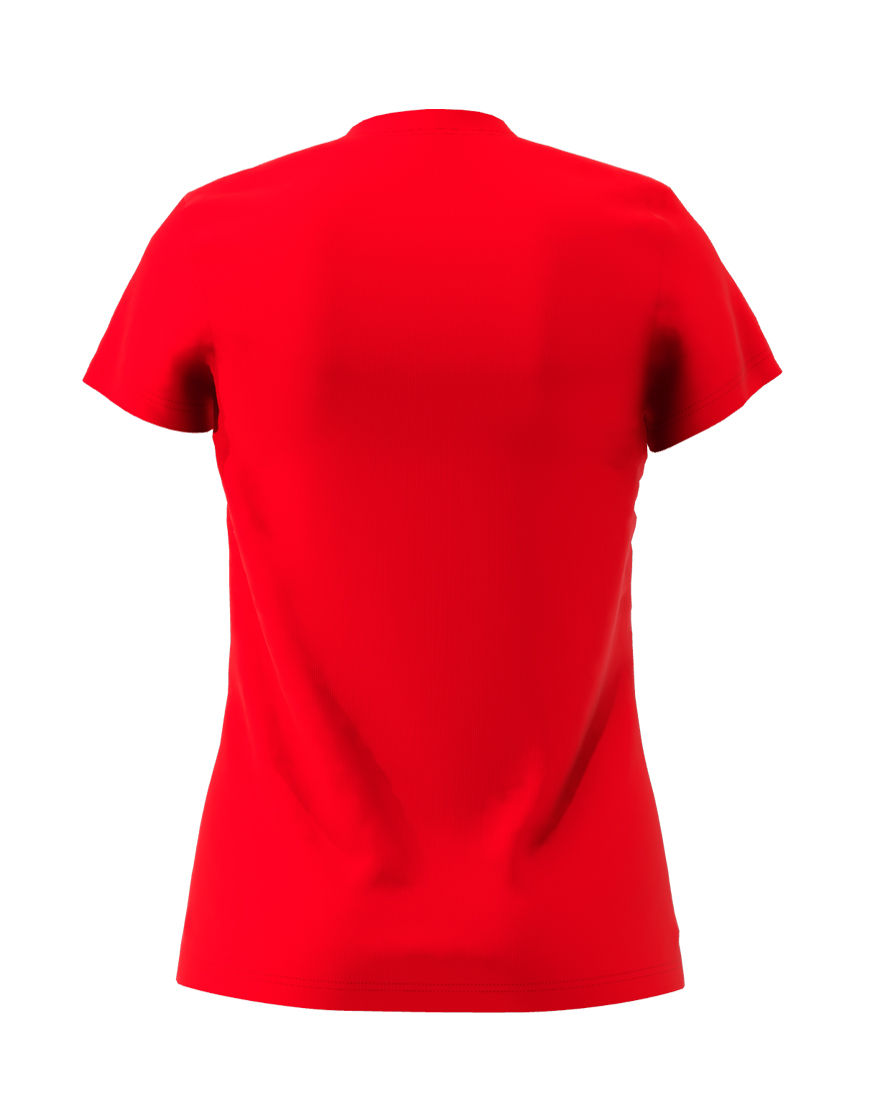 womens cotton stretch t shirt 3d red back