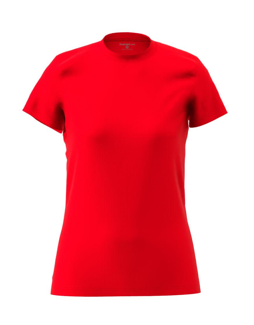 womens cotton stretch t shirt 3d red