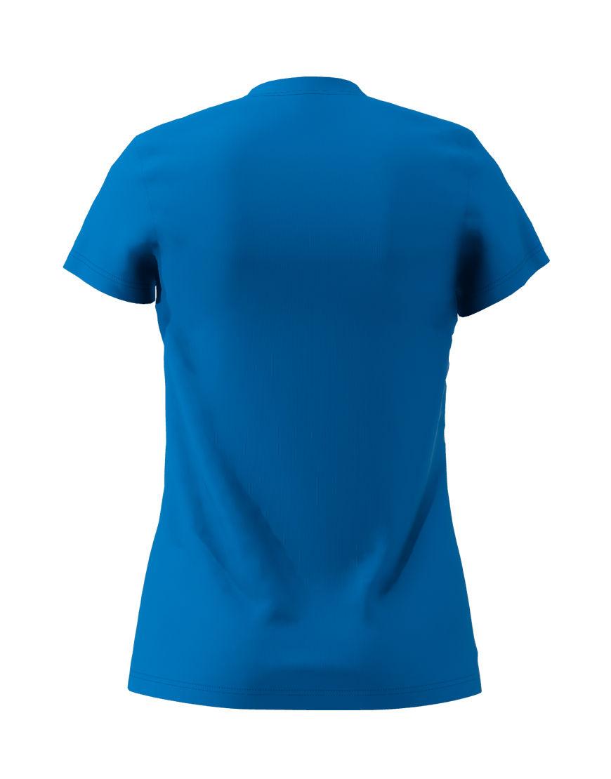 womens cotton stretch t shirt 3d royal blue back