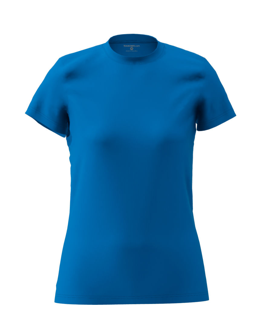 womens cotton stretch t shirt 3d royal blue