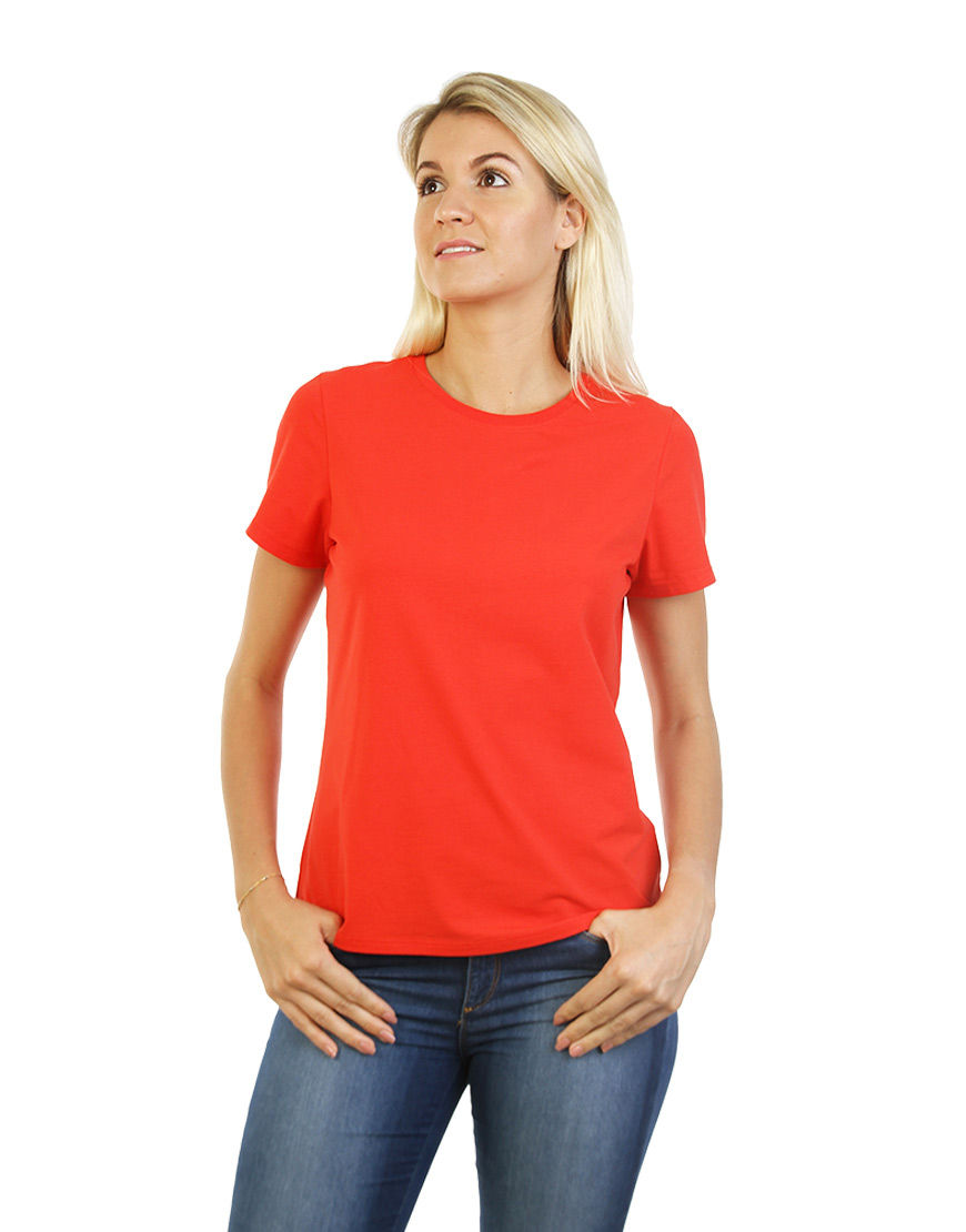 womens cotton stretch t shirt red