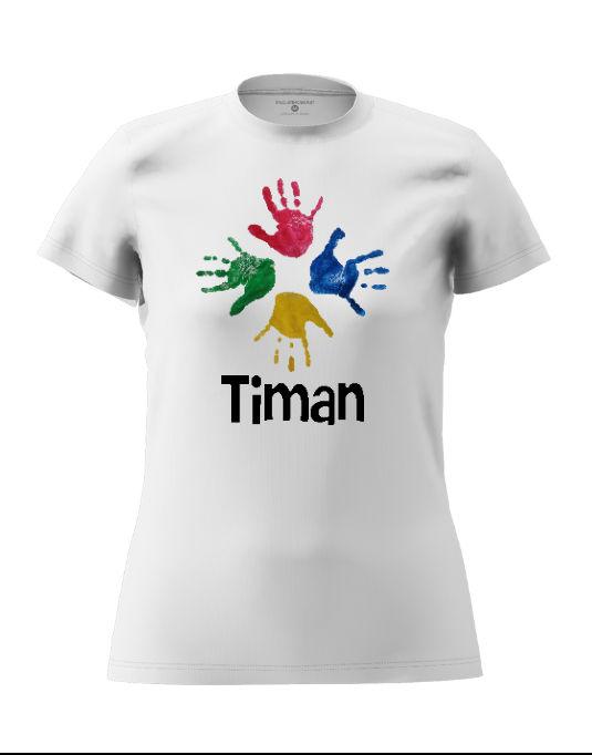 Timan Women's white T-Shirt