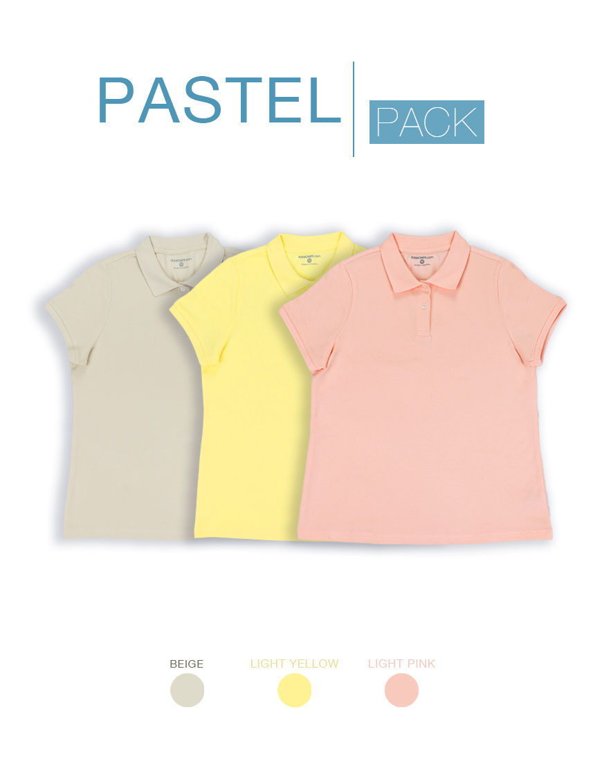 womens pastel polo pack