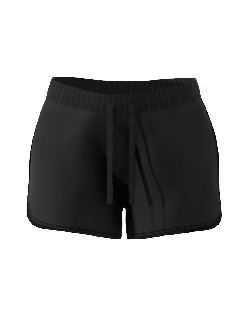 womens sports 3d short black