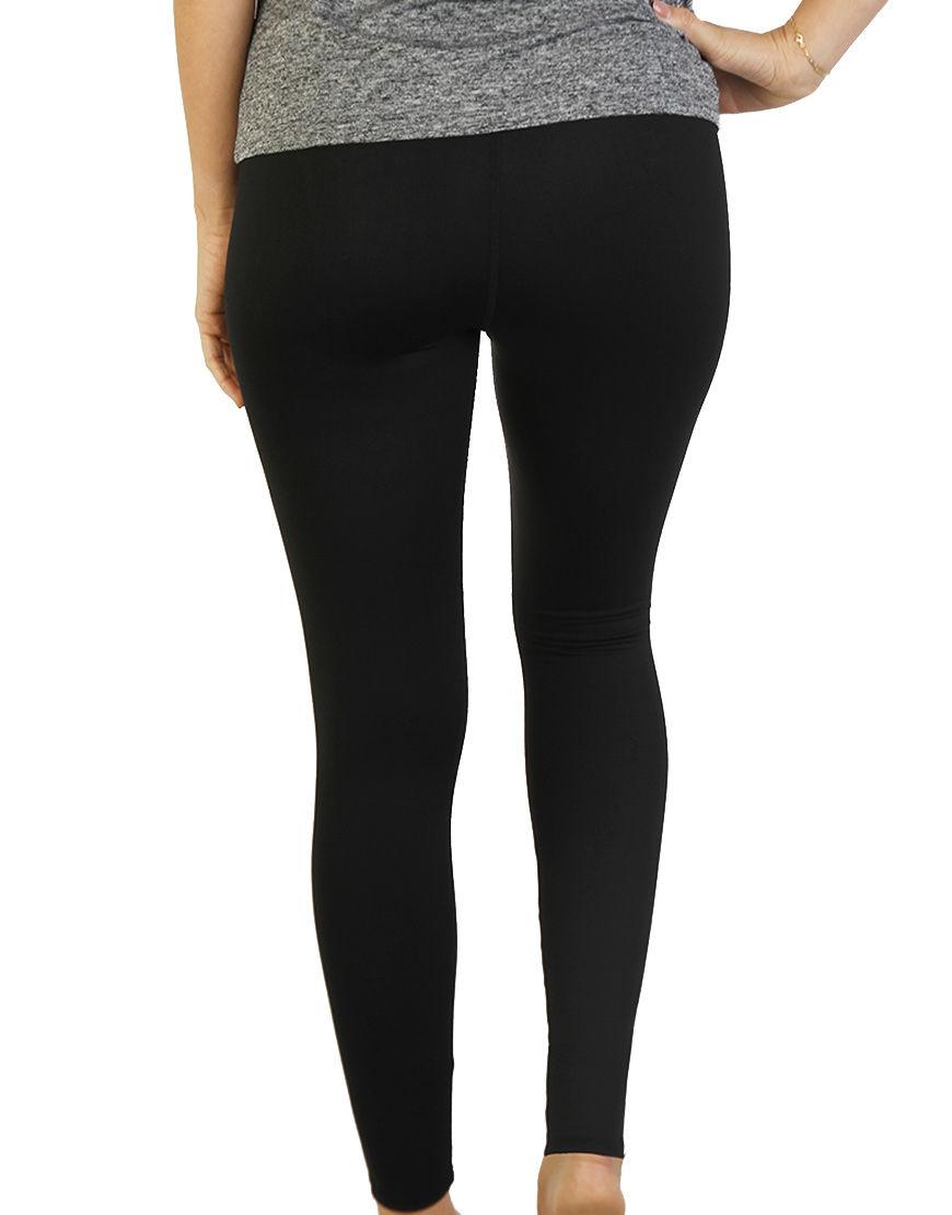 womens sports leggings black back