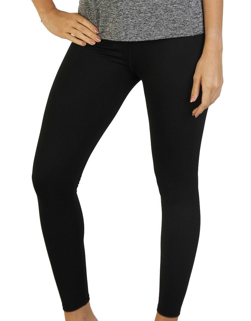 womens sports leggings black front
