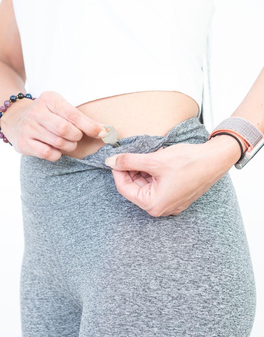 womens sports leggings grey key holder