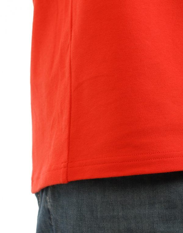 Men's Modern Fit Polo Red Print Close Up
