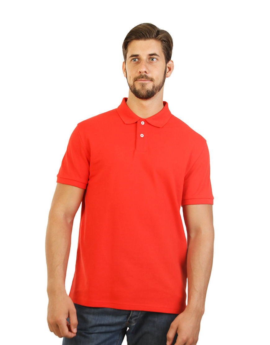 Men's Modern Fit Polo Red Print front