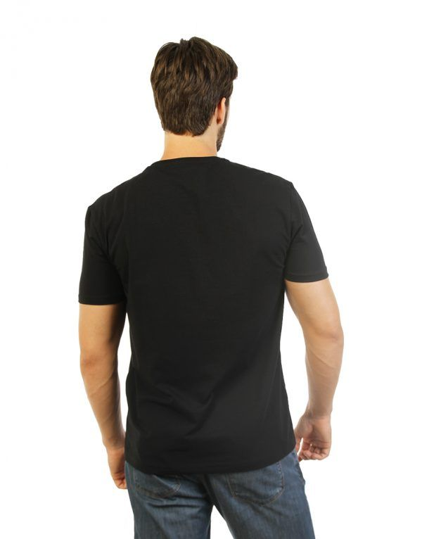 Plain Black Men T-shirt