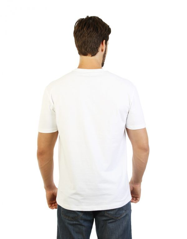 White T-shirt for men back