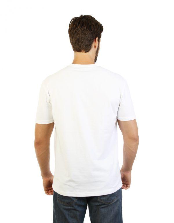 White T-shirt for men back