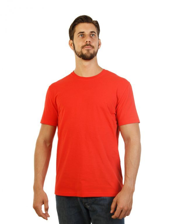 Red T-shirt for men side