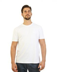White T-shirt for men front