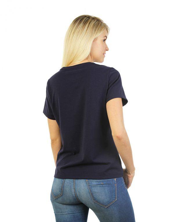 Navy Blue T-shirt for women back