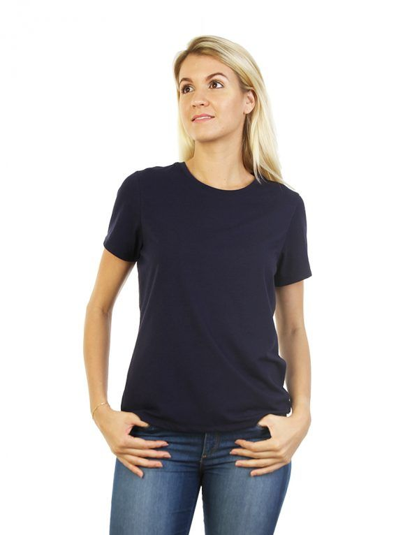 Navy Blue T-shirt for ladies front