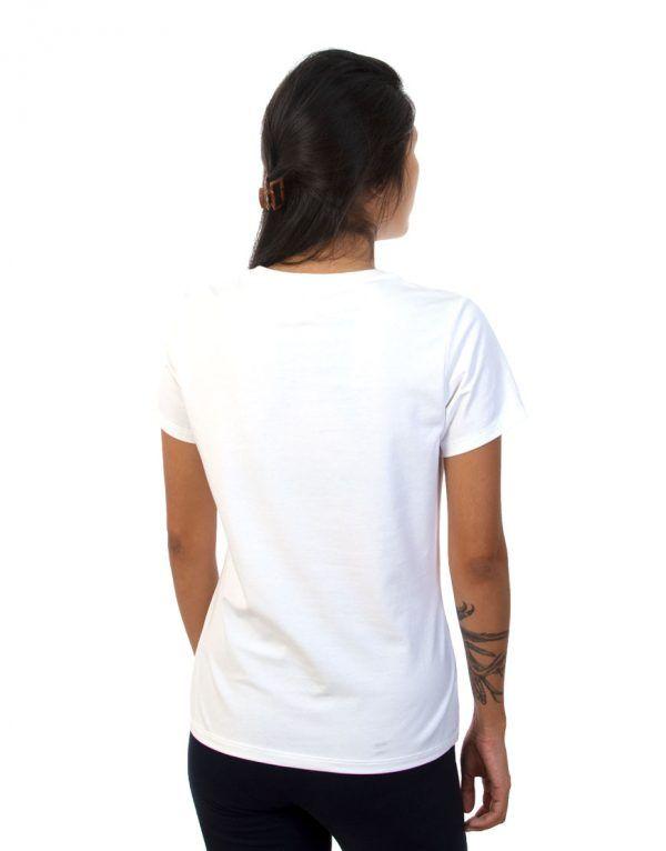 Women White T-shirt Back