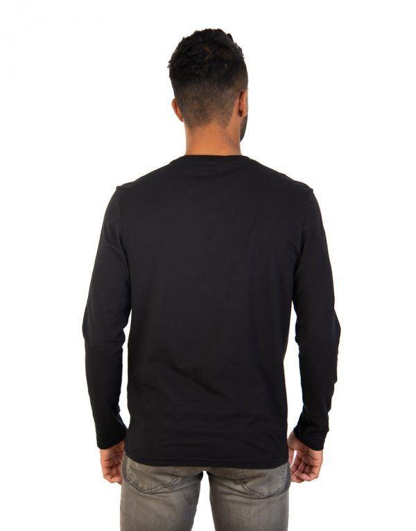 Men long black sleeve t-shirt back