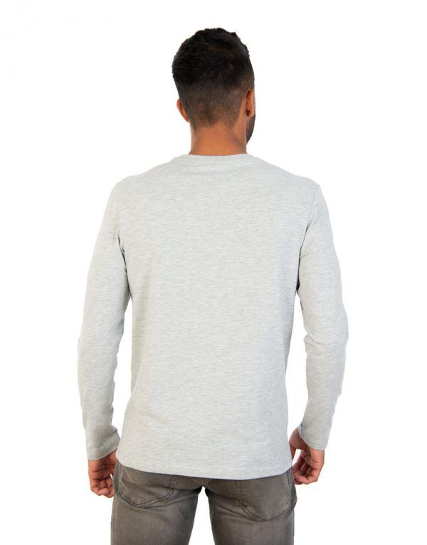 Men long grey sleeve t-shirt back