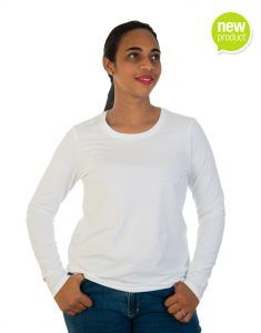White long sleeve t-shirt for women front