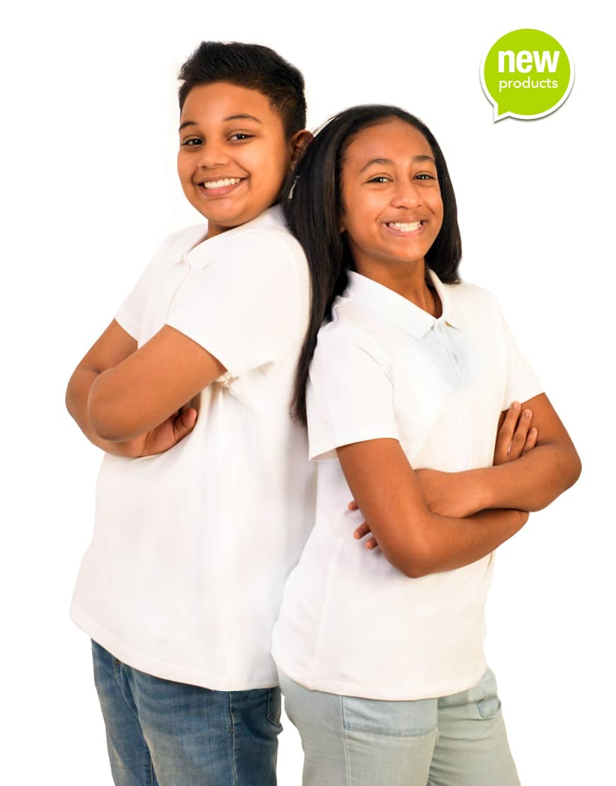 Tweens custom white polo shirt