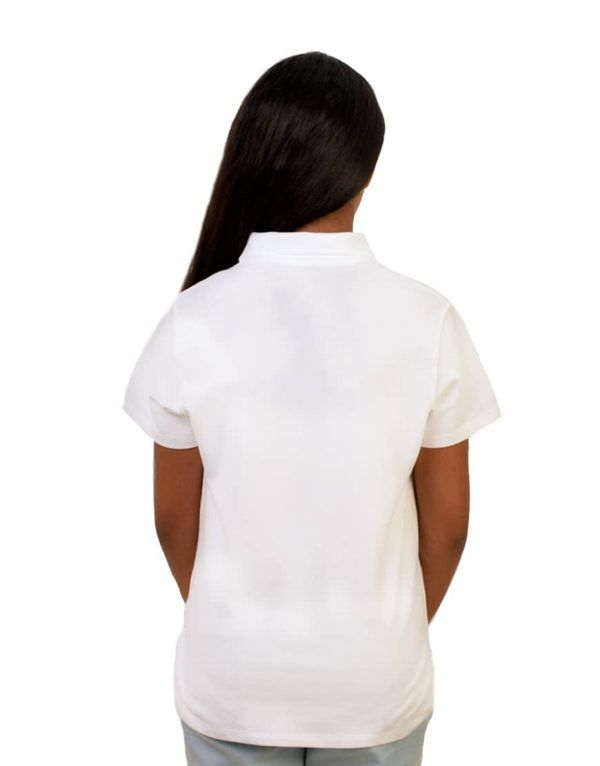 Tweens custom white polo shirt back